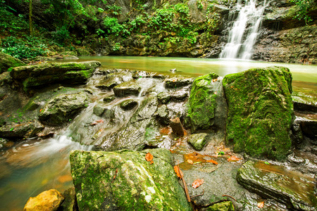 namtok: Namtok Sam Lan National Park is a national park in Saraburi Province, Thailand. Stock Photo