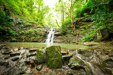 namtok: Ton Sai Waterfall is Sai. Waterfalls that have no water all year round in Namtok Sam Lan National Park