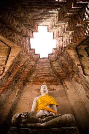 Wat Nakhon Luang Tample,Prasat Nakhon Luang in Ayutthaya,Thailand,public domain or treasure of Buddhism