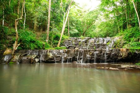 Ton Sai Waterfall is Sai. Waterfalls that have no water all year round in Namtok Sam Lan National Park