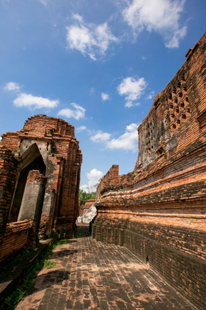 public domain: Wat Nakhon Luang Tample,Prasat Nakhon Luang in Ayutthaya,Thailand,public domain or treasure of Buddhism