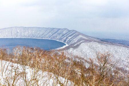Lake Kuttara view at Noboribetsu bear park