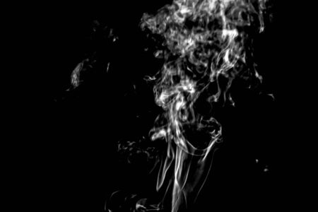 Smoke of various shapes can be used for various decorative work. Stock Photo