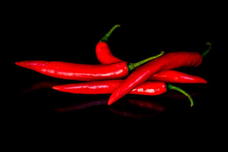red hot chili pepper isolated on a white background Imagens