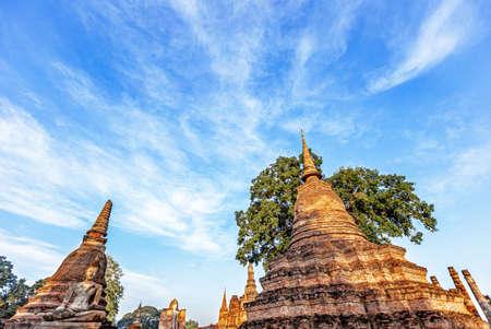 Phra Sri Rattana Mahathat temple in Si Satchanalai historical park at sukhothai in thailand