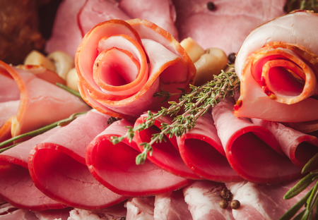 Mix of sliced meat Stock Photo - 98142202