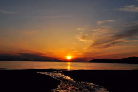 puget: A sunset in the Puget Sound.