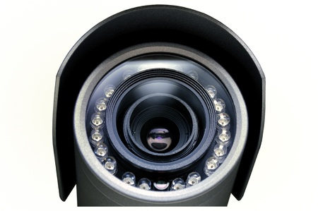 private security: A surveillance camera for monitoring and protection of various objects.