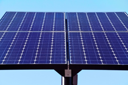 Green technology, solar panels for electricity production. Stock Photo - 9885953