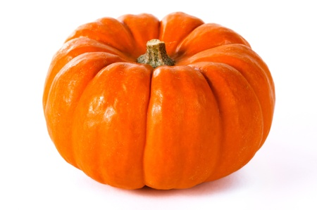 Close up pumpkin on a white background. Stock Photo
