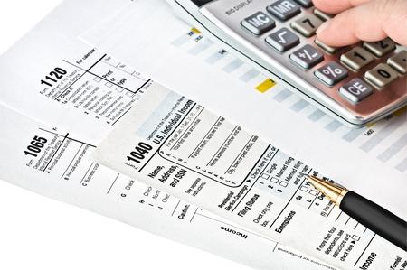 Tax forms 1040,1065,1120  U S Income Tax Return