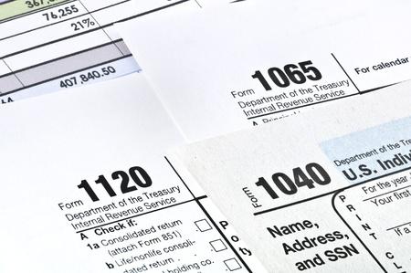 MwSt. bildet 1040,1120,1065 US-Einkommensteuererklärung