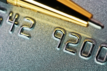 Close-up picture of a credit card as a background  photo