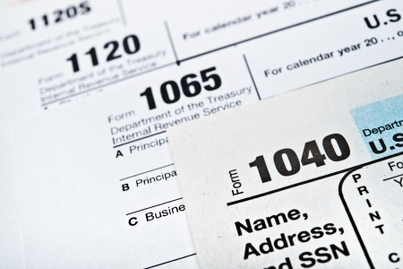 U.S. Income Tax Return forms 1040,1065,1120 photo