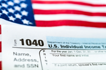 U S  Individual Income Tax Return form 1040  Stock Photo