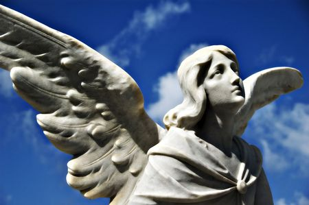 angel statue: Starring into Heaven Stock Photo