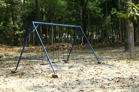 lonliness: Empty swings in a park