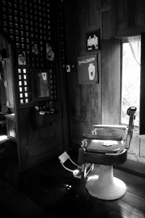 shop interior: Barbershop