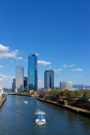 大阪ビジネ スパークの高層ビル 写真素材