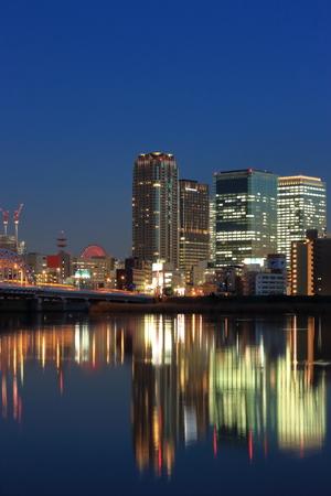kita: Yodogawa Osaka Kita in the twilight streets