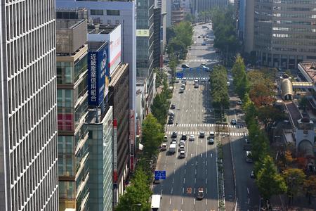 bldg: Midosuji to look at from Hankyu Umeda building