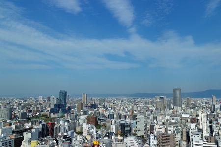 bldg: Skyline seen from Osaka Ekimae Dai 3 Bldg