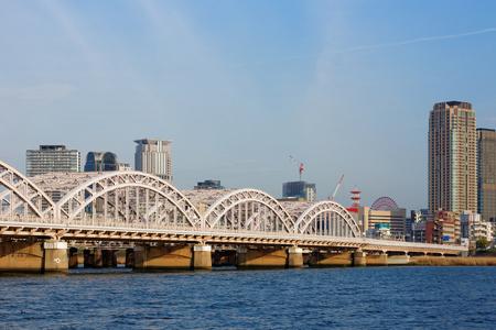 kita: Yodogawa and iron bridge of Osaka Editorial