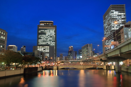 lightup: Of the Nakanoshima Island night River Bridge