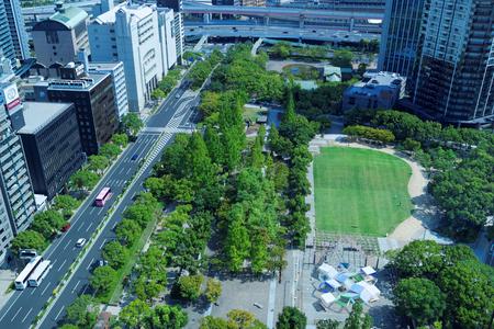 city park skyline: City of Kobe Editorial