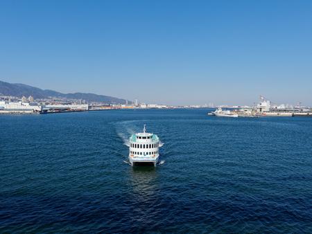 View to the East from Kobe port of Kobe Ohashi bridge