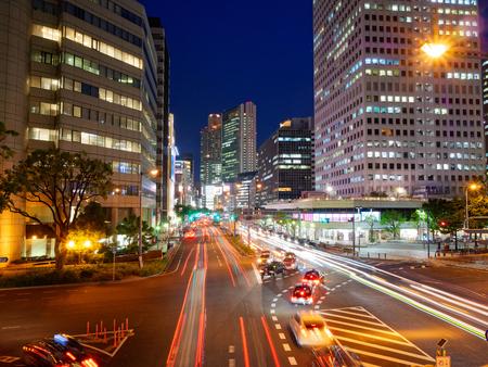 Night Osaka Umeda-Shinmithi intersection Editorial