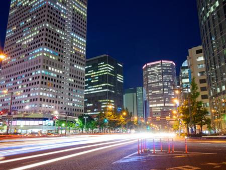 Night Osaka Umeda bypass intersection