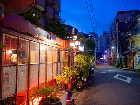 Dusk of Nakazaki Town, Kita Ward, Osaka City