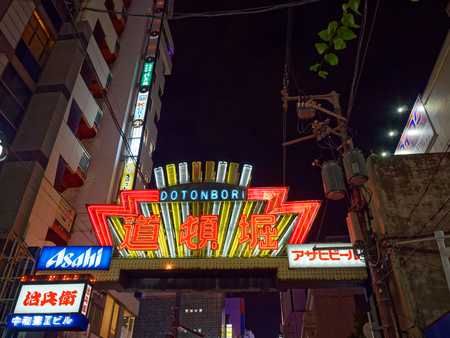 Neon lights of Osaka Minami Dotonbori