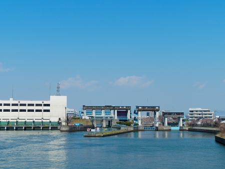 See Osaka KEMA bridge from KEMA lock Editorial
