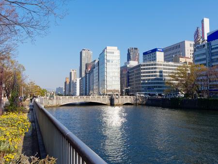 See Yodoyabashi bridge, tosabori River Osaka Nakanoshima in the Nakanoshima Green road Editorial