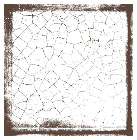 grunge crackle frame