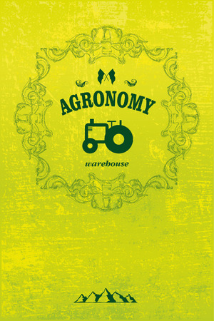 agronomy: agronomy poster with tractor and grunge background