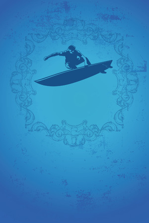 pirouette: vintage surf poster with grunge style