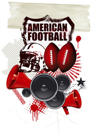 afl: american football background with many objects