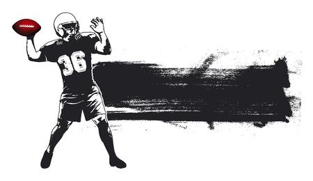 american football grunge banner