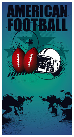 afl: american football grunge poster