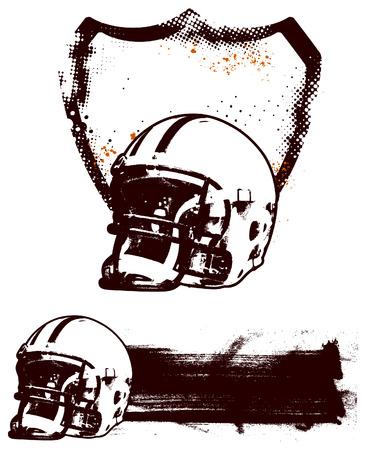 campeonato de futbol: americano escudo del grunge de f�tbol y la bandera