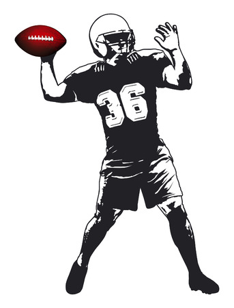 nfl: american football player Illustration