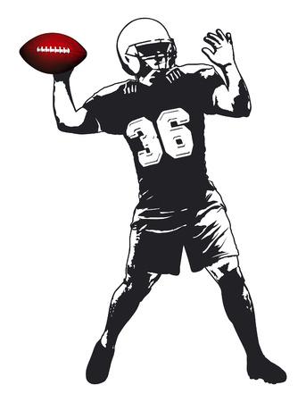 nfl football: american football player Illustration