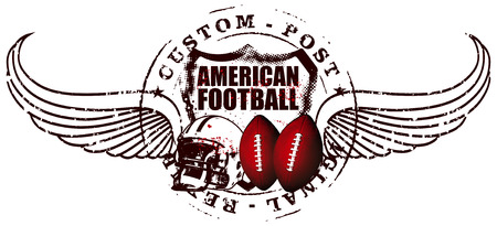 scrimmage: american football post with wings