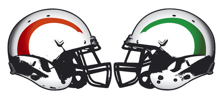 rivalry: american football rivalry Illustration