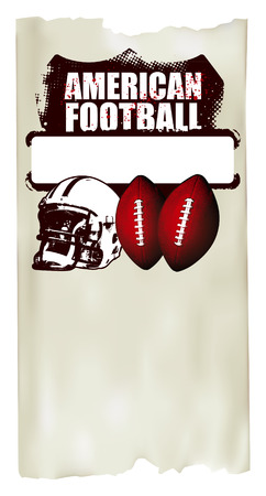 afl: american football poster with old paper background