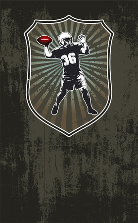 afl: american football scene with shield and background