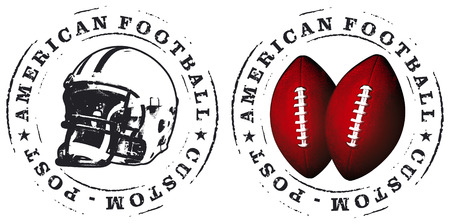 football tackle: american football stamps